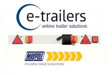 "4ft 6"" Maypole LED Trailer Light Board + Fog - 6m cable - Tractor Boat MP276PLED"